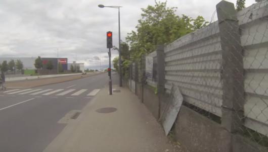 trottoir avenue Pierre Mendès France avant les travaux